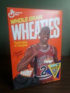 Michael Jordan 1991 Wheaties Box With Uncut Fleer Cards On Back (opened/empty)