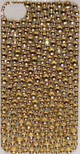 Iphone 4 4S Gold Bling Crystal Rhinestone Decal Sticker Vinyl Back Skin