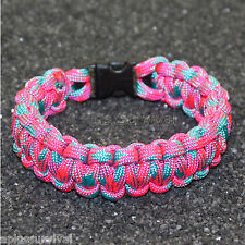 Neon Cotton Candy - 550 lb Type III Paracord Survival Rope Bracelet Made in USA