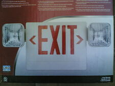 Nib ~ Led Emergency Exit Sign & Power Outage Wall Lights w/ back-up battery