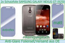 2 x Antireflex matt Display Schutz folie Samsung GALAXY Nexus GT I9250 Handy Set