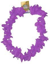 Neon Purple Hawaiian Leis Hawaii Neck Garland Hula Girl Fancy Dress