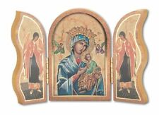 GOLD EMBOSSED OUR LADY OF PERPETUAL HELP TRIPTYCH