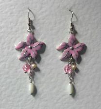 Unbranded Pearl Flowers & Plants Costume Earrings