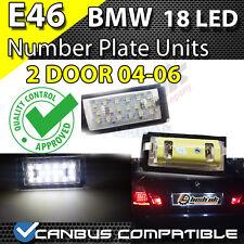 * X 2pc BMW E46 2DR 04-06 18 SMD TARGA UNITÀ CANBUS SENZA ERRORI BIANCO PURO