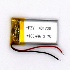 3.7 V 160mAh 401730 Li-Polymer Rechargeable Battery Liion LiPo Cell for GPS MP3