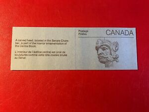 CANADA 1985 MNH BOOKLET SENATE CHAMBER CARVED HEAD