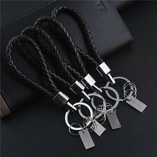 1pc Men Leather Key Chain Ring Keyfob Car Keyring Keychain Gift For Car Keyring