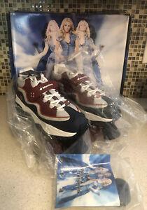 New Britney Spears Roller Skates 4 Wheelers Skechers w Box/extras Women Sz 8.5