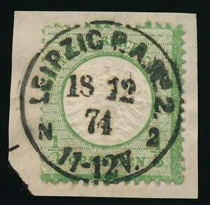 D.Reich Nr. 17 b gestempelt/Briefstück K1 LEIPZIG mit Befund Brugger BPP (61834)