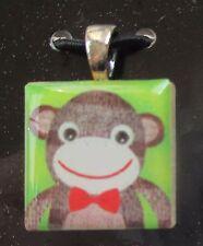 b sock monkey Silvestri LIFETILES PENDANT Made in the USA charm