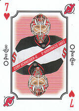 16/17 O-PEE-CHEE OPC PLAYING CARD SEVEN OF HEARTS CORY SCHNEIDER DEVILS *23384