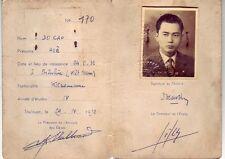 1956-1957 Ministere De L'Agriculture-Ecole Nationale Veterinaire (Vietnam) rare