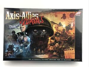 Axis & Allies & Zombies Board Game For 2-5 Players Ages 12 and up NEW SEALED