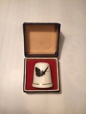 Ashleydale fine bone china England butterfly thimble new in box