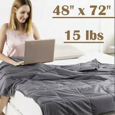 Anxiety Weighted Blanket 48'' x 72'' Full Size Twin Size Reduce Stress 15lbs