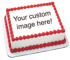 Custom photo birthday party image transfer sheet edible frosting cake top Icing