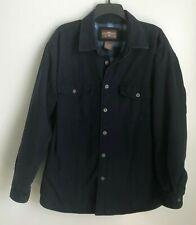 Levi's Large Blue Fleece Lined Canvas Work Jacket Button Up