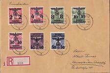 Generalgouvernement 1940, R- Brief  Lowicz Mi 15+16I+17/18+20/21+23 Krakau