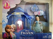 Disney Frozen Elsa Flip 'n Switch Castle Fashion Dress Princess Doll Furniture