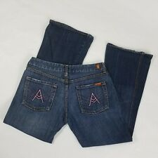 7 For All Mankind Womens Sze 31 x 30 Blue A Pocket Pink Stitching Bootcut