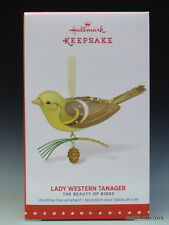NEW 2015 Beauty of Birds Lady Western Tanager HALLMARK KEEPSAKE ORNAMENT