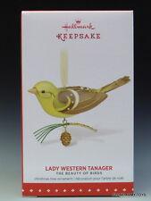 NEW 2015 Beauty of Birds Lady Western Tanager HALLMARK KEEPSAKE ORNAMENT 2016