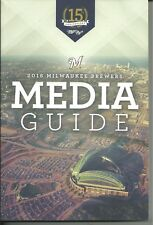 New Milwaukee Brewers 2016 Media Guide 346 Pages Ryan Braun Free & Fast SnH L@@K