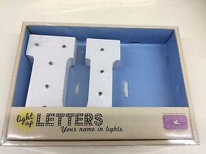 Light Up Letter U Warm White LED Lamp Ideal for Night Lamp - New