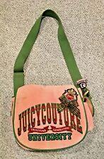 Juicy Couture Pink Trust Fund Gen Suede Messenger Bag School Laptop Crossbody 💕