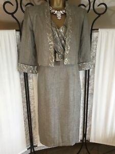 Gorgeous Roman Originals Mother Of The Bide/Groom Dress & Jacket Size 10 NWT