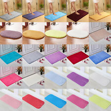 Absorbent Bath Mat Soft Shaggy Non Slip Bathroom Shower Floor Square Rugs Carpet