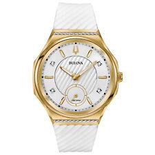 Bulova Curv Women's Quartz Diamond Accent Exhibition Caseback 40 mm Watch 98R237