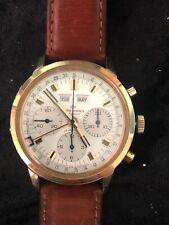 Vintage Wakmann Gigandet Valjoux 730 72C Triple Calendar Chronograph. Extra Nice