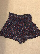 M&S Girls Floral Winter Shorts Age 5-6 Years