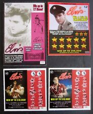 Elvis Presley Instant SV Lottery Tickets,  4 different