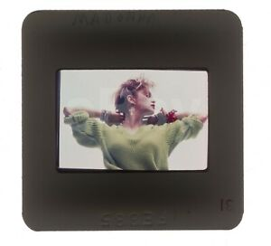 Rare Madonna green jumper 35mm slide transparency photo Like A Virgin era