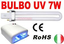 BULBO 365nm 7W LAMPADA RICAMBIO UV RICOSTRUZIONE UNGHIE GEL 7 WATT NAIL ART