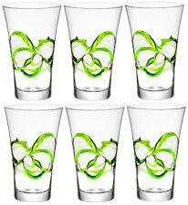 6 x Bormioli Rocco Ceralacca Hiball Glasses - 380ml - 12.75oz - Green
