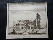 Gravure noir et blanc 18°: ROME de BERNARD FECIT