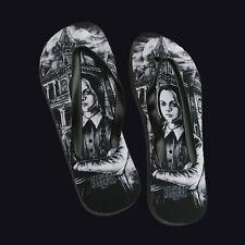 Darkside Clothing medio Miércoles Addams Ojotas Horror Halloween..