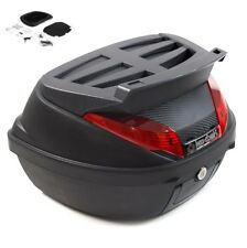 LEXTEK 42L Universal Motorcycle Removable Luggage Top Box FREE Mounting Plate