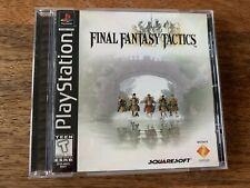 Final Fantasy Tactics (Sony PlayStation 1, Ps1) Black Label Complete!