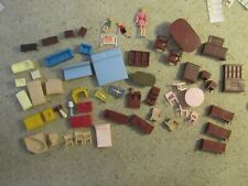 Large Lot Vintage Plastic Doll House Furniture - Mixed Lot