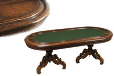 8 Person Leather and Felt Topped Poker Table