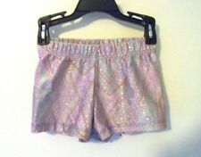 Girls Eurotard Purple Sparlky Dance Shorts Size Small (4-6) EUC!!!