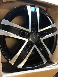 Suzuki Jimny Mak Alloy Wheels 6jx15 Black Mirror PCD 5X139.7 Set Of 5 ET0