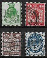 SG434-437.  1929 PUC Set of 4. Fine Used.  Ref:0577