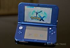 NINTENDO 3DS XL BLUE NEW EDITION BUNDLE + 2 GAMES, OFFICIAL CHARGER, & HARD CASE