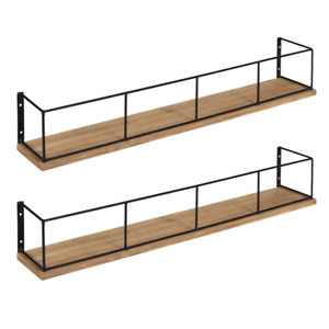 Benbrook 4 in. x 24 in. x 4 in. White/Gold Wood Decorative Wall Shelf